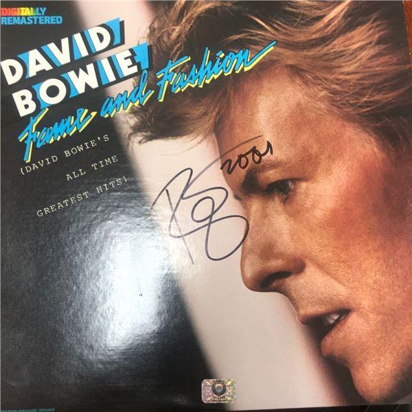 Signed David Bowie Fame & Fashion Album Cover