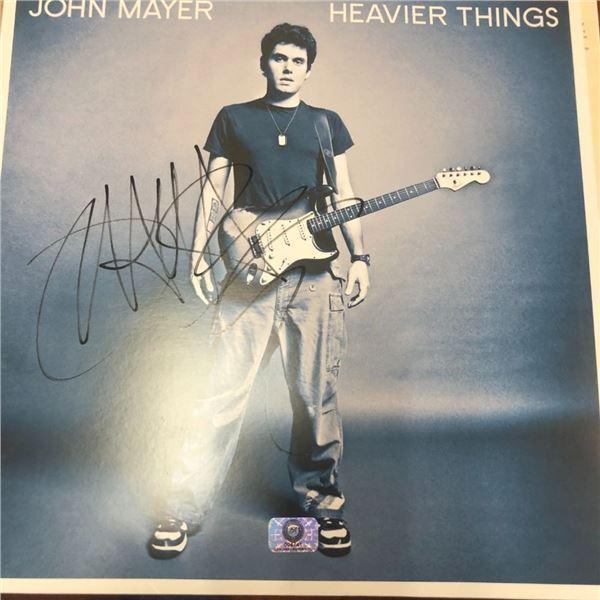 Signed John Meyer Heavier Things Album Cover