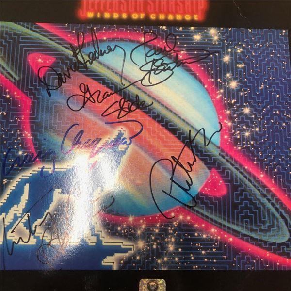 Signed Jefferson Starship Winds Of Change Album Cover
