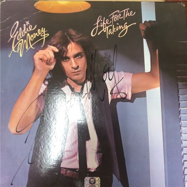 Signed Eddie Money Life For The Taking Album Cover