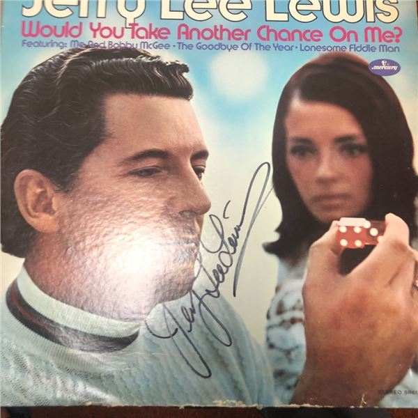 Signed Jerry Lee Lewis Would You Take Another Chance Album Cover
