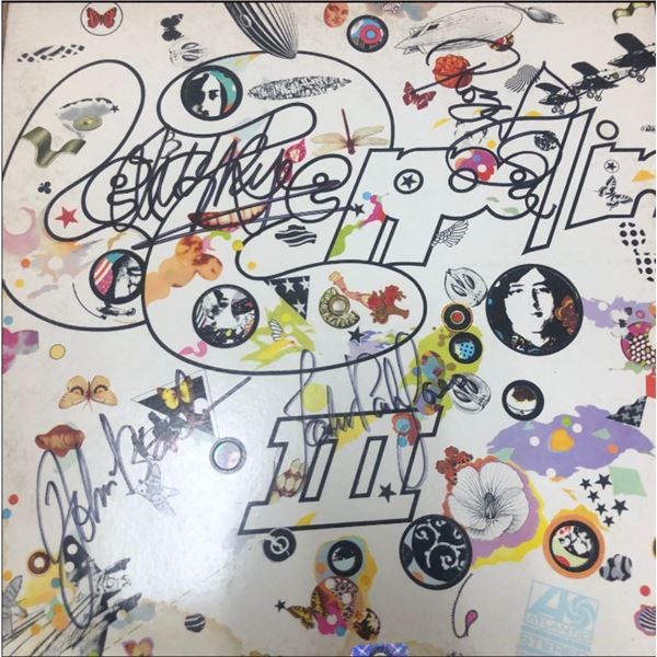 Signed Led Zeppelin III Album Cover