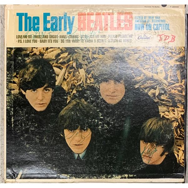 Signed The Early Beatles Album Cover