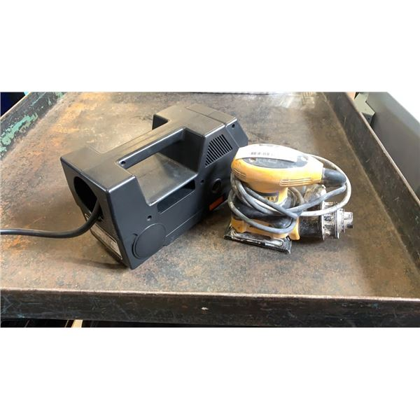 Portable air compressor and dewalt palm sander