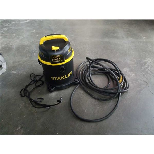 Small Stanley shop vac and heavy duty extension cord