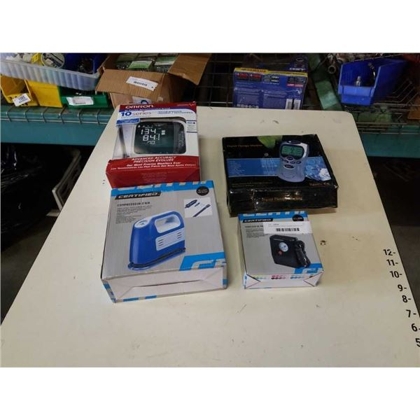 Blood pressure monitor, therapy machine and 2 small compressors