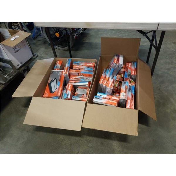 2 BOXES FRAM AIR AND OIL FILTERS