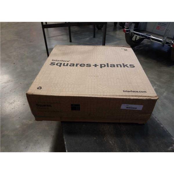 Box of square carpet tiles