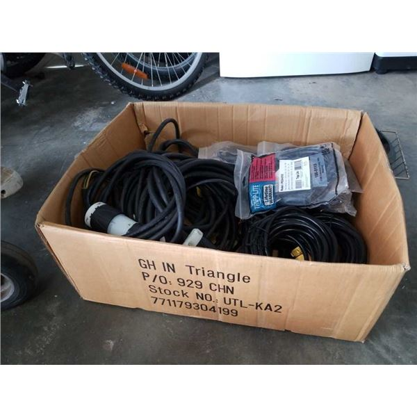Box of extension cord and electrical cords