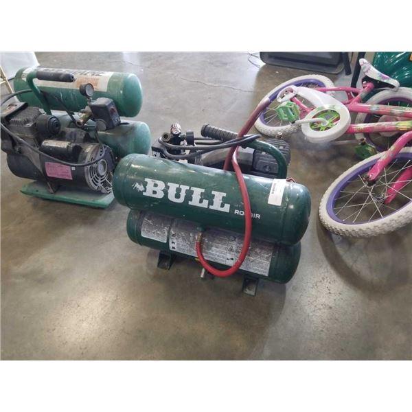 Rolair bull twin tank air compressor