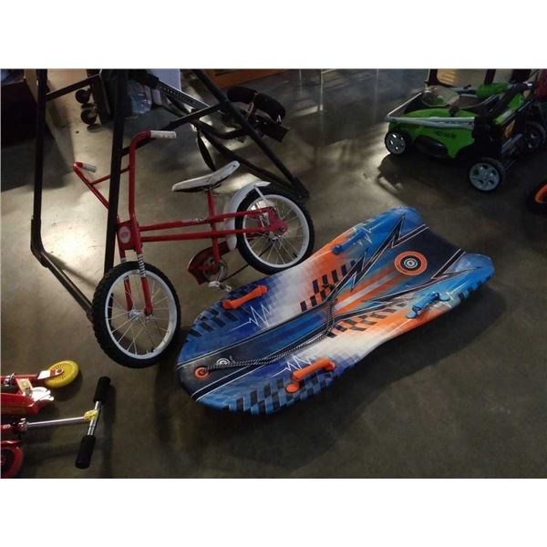 Mercury youth bike and sno storm sled