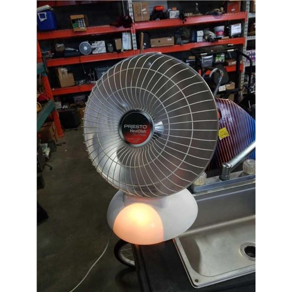 Presto Heat Dish with foot light working