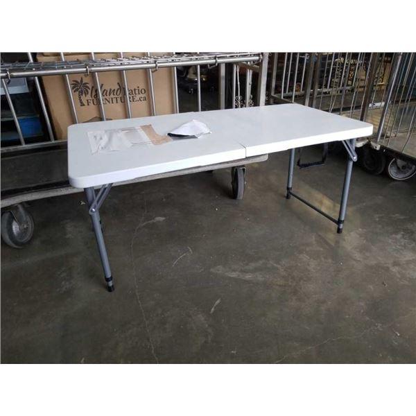 4 foot folding adjustable height table