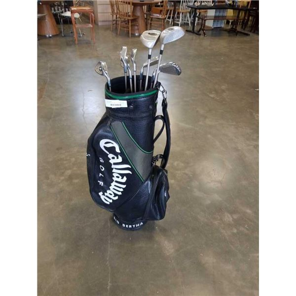 CALLAWAY GOLF BAG WITH ALTIMA CLUBS