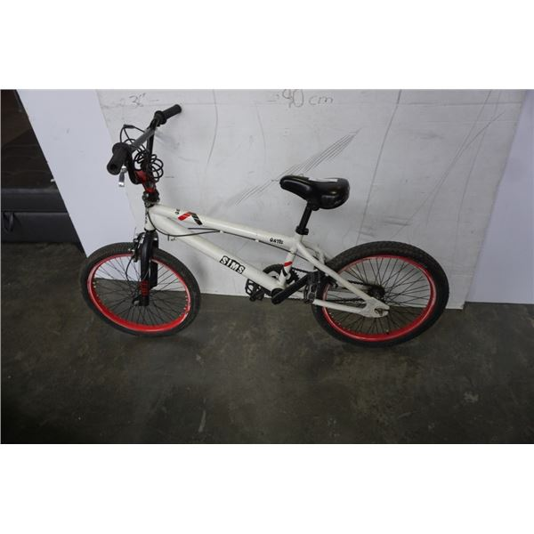 WHITE, RED, AND BLACK SIMS BIKE