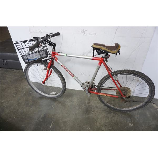 SILVER AND RED NORCO BIKE