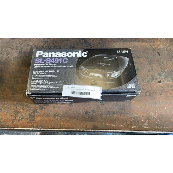 PANASONIC PORTABLE CD PLAYER IN BOX