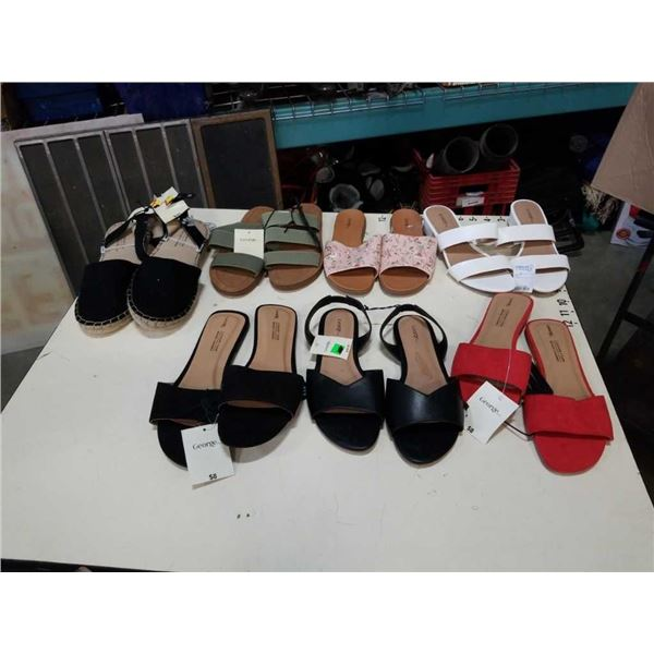 7 pairs of as new ladies flat shoes size 7 to 10