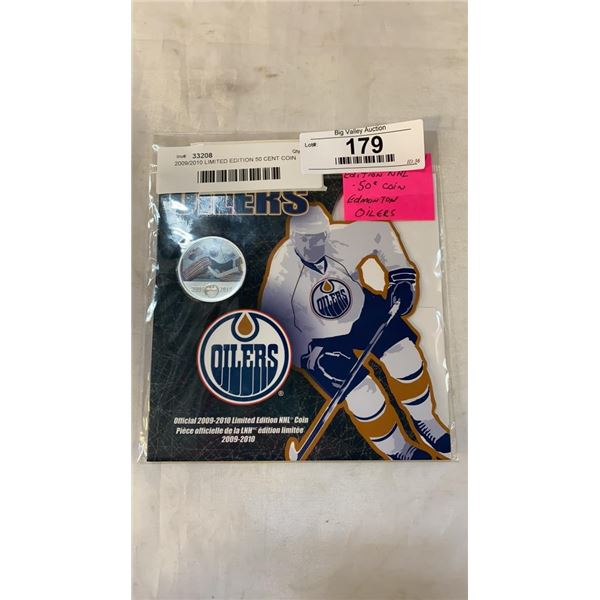2009/2010 LIMITED EDITION 50 CENT COIN EDMONTON OILERS NHL