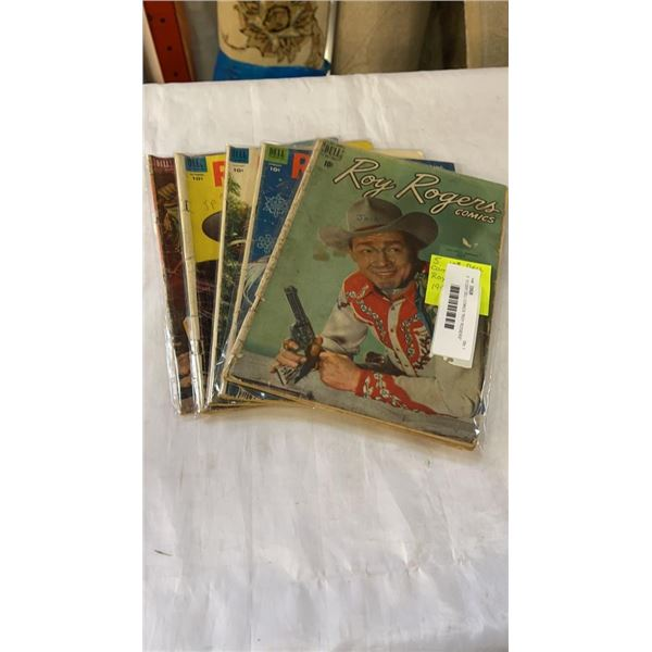 "5  10 CENT DELL COMICS ""ROY ROGERS"" 1952-1954 COMICS"