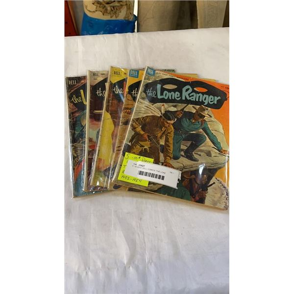 "5  10 CENT DELL COMICS ""THE LONE RANGER"" 1952-1954 COMICS"
