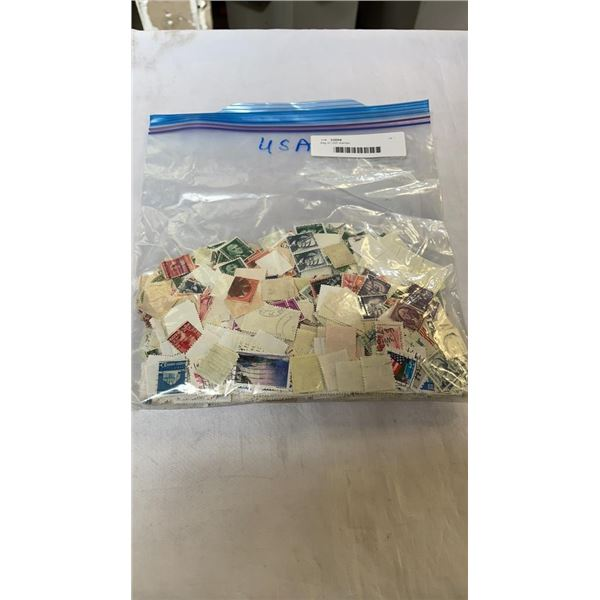 Bag of USA stamps