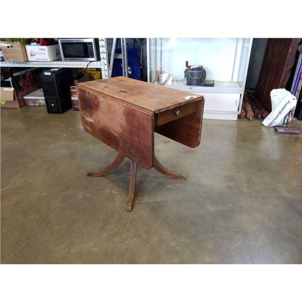 VINTAGE DROPLEAF DINING TABLE WITH DRAWER