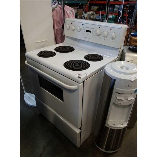 White Frigidaire stove working