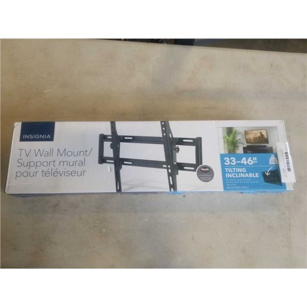 NEW OVERSTOCK INSIGNIA TILTING TV WALL MOUNT 33-46 INCHES 80LB CAPACITY