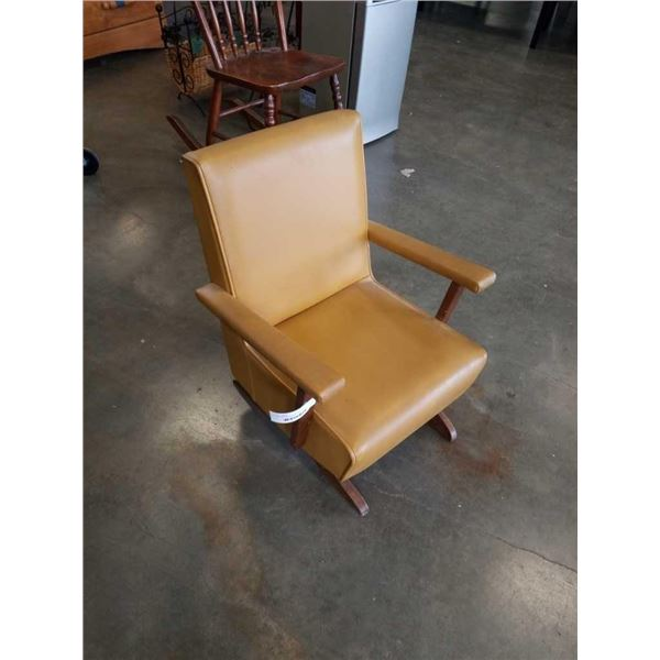 MCM VINTAGE KIDS ROCKING CHAIR - 22 inches tall