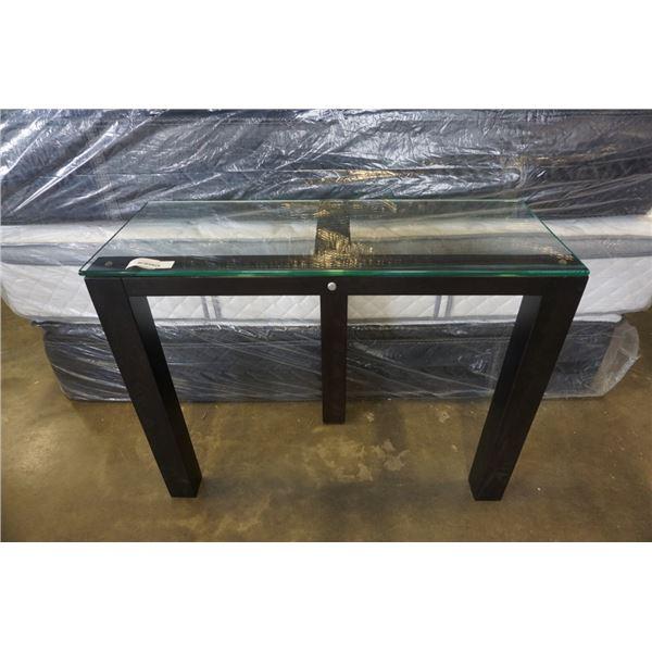 MODERN GLASSTOP SOFA TABLE