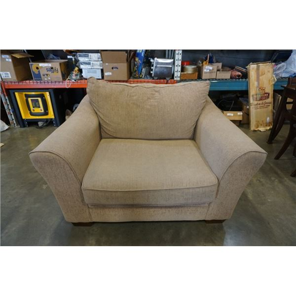 BEIGE ASHELY FURNITURE OVERSIZED ARMCHAIR