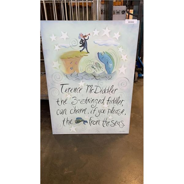 LARGE PAINTED CANVAS - NURSERY RHYME
