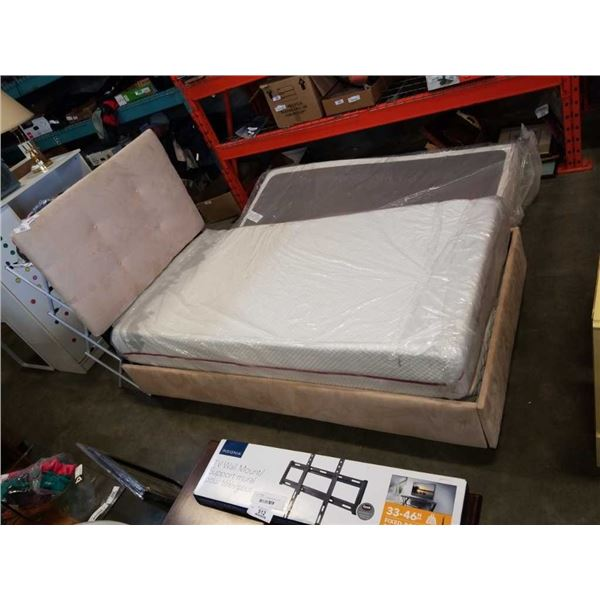 MICROFIBER SINGLE SIZE BEDFRAME WITH DOUGLAS MATTRESS