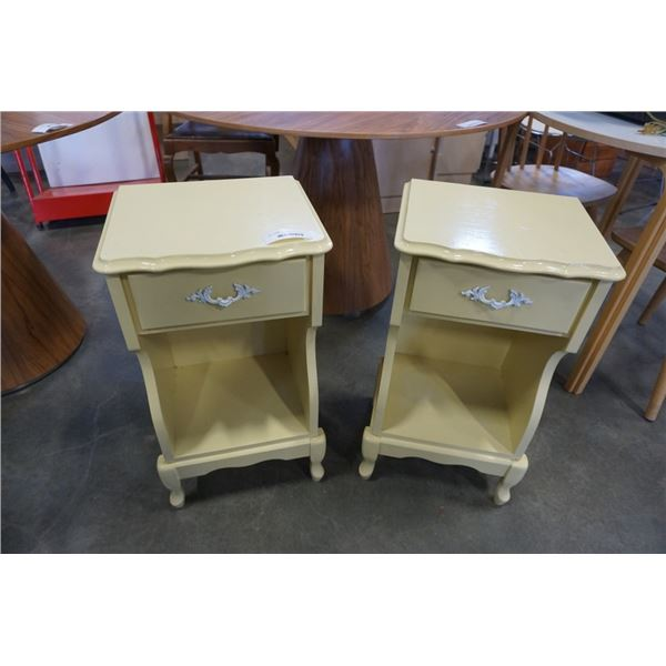 PAIR OF PAINTED FRENCH PROVINCIAL NIGHTSTANDS