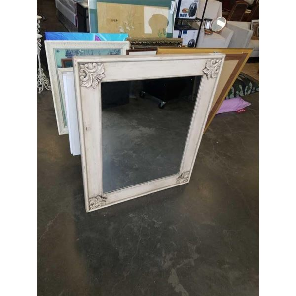 "Antique look framed mirror 37"" x 45"""