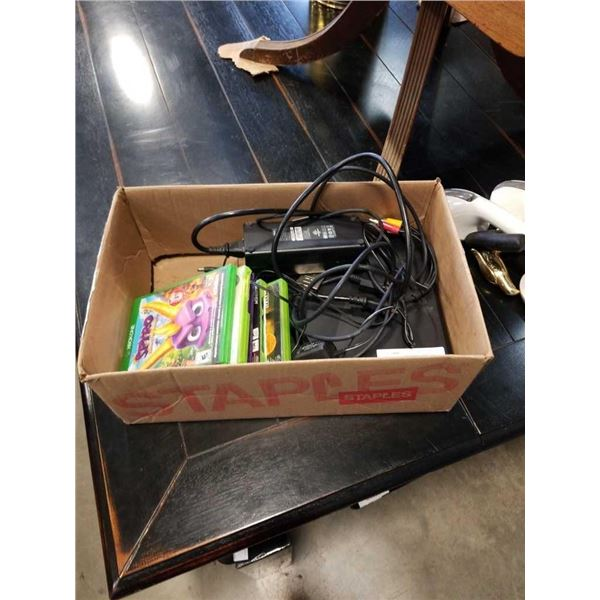 Xbox 360 console with power brick and 6 games
