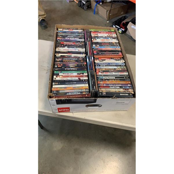 Large box of DVDs