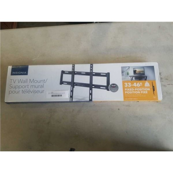 NEW OVERSTOCK INSIGNIA FIXED POSITION TV WALL MOUNT 33-46 INCHES 80LB CAPACITY