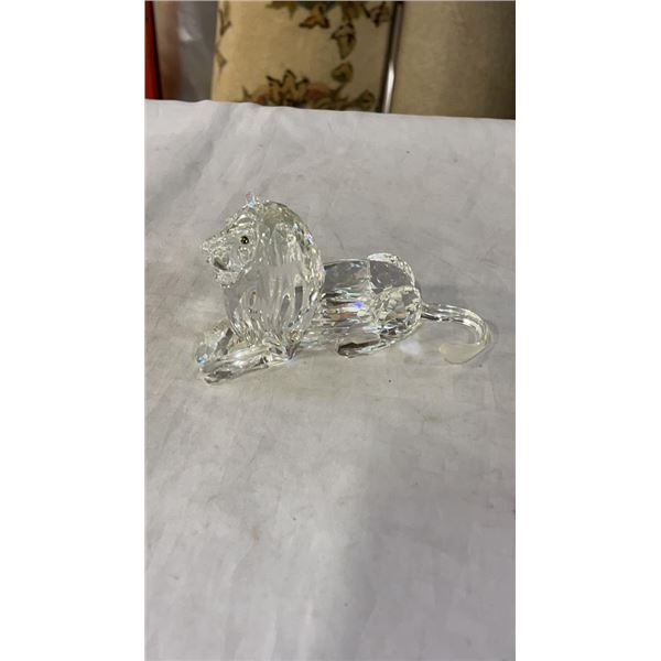 Swarovski crystal lion