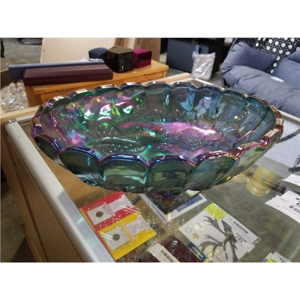 Large carnival glass bowl