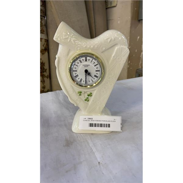 DONEGAL IRISH PARIAN PORCELAIN CLOCK - WORKING