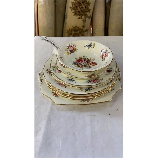 FLORAL SPRAYS F HOWARD HAMMERSLEY PLATES AND SAUCER