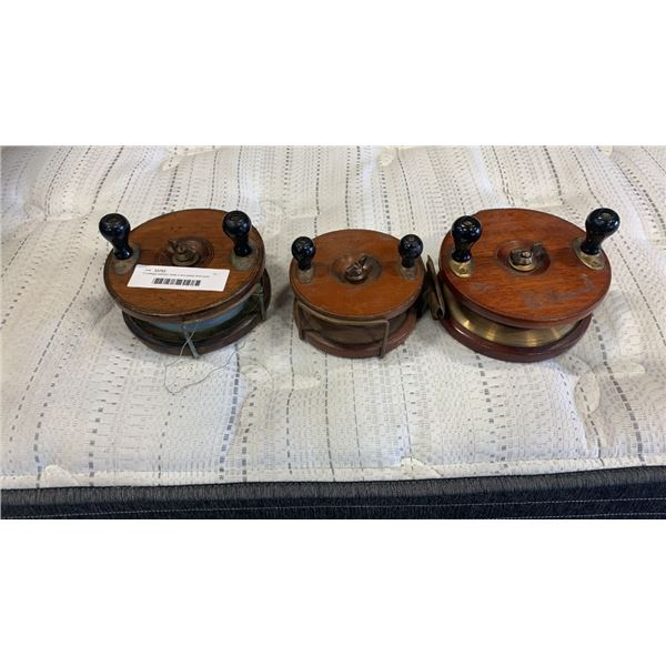 3 vintage salmon reels 2 are peetz and sons