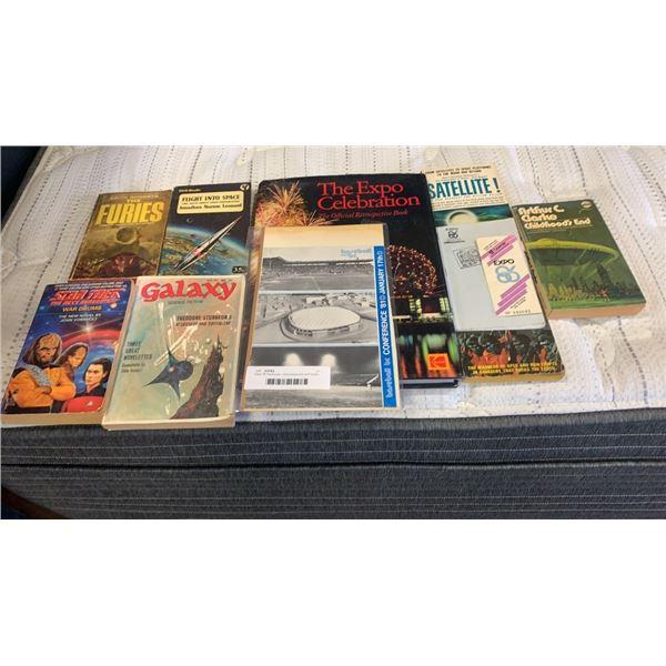Expo '86 hardcover, memorabilia and scifi books