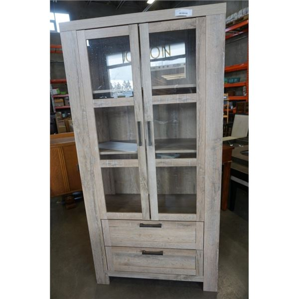 PIER 1 IMPORTS DISPLAY CABINET - 6 FOOT TALL