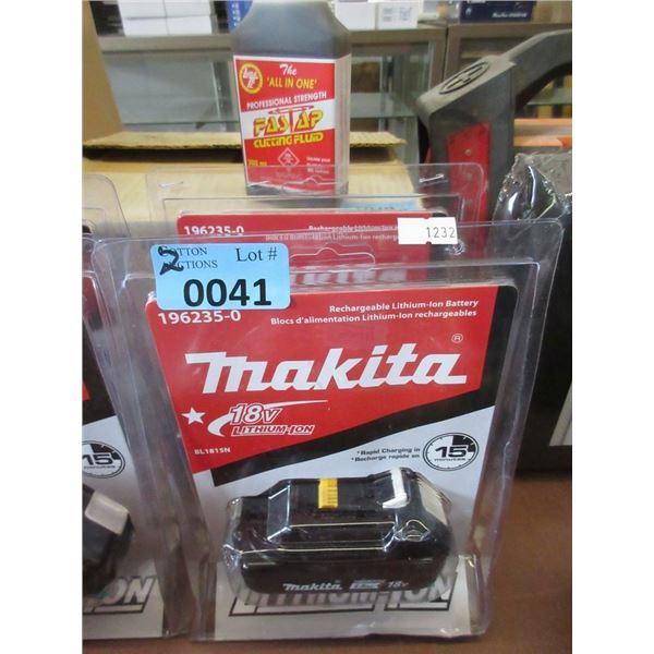 2 New Makita 18 Volt Batteries