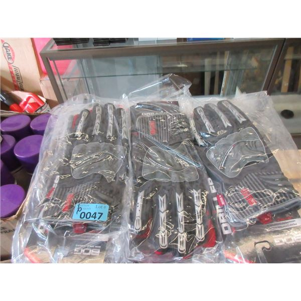 6 Pairs of XL Leather High Impact Gloves