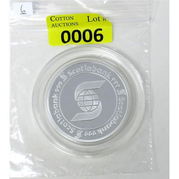 5 Oz. Scotia Bank .999 Fine Silver Round