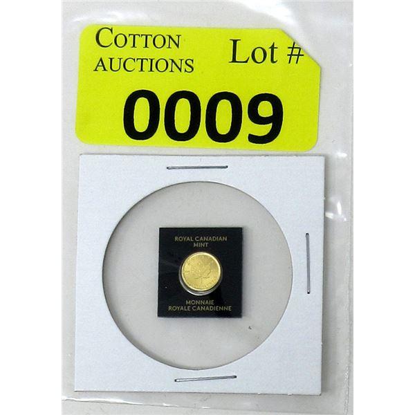 1 Gram 2021 Canada .9999 Gold Maple Leaf Coin